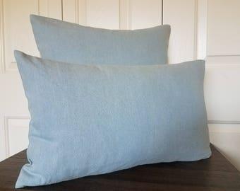 Blue Denim Pillow Cover-Pillow Cover-Throw pillow covers-Blue pillow-Designer pillow-Denim pillow-Denim pillow cover-Decorative pillow