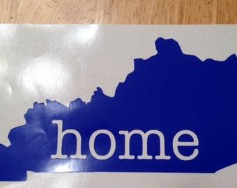 Kentucky home decal