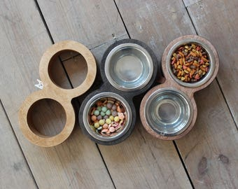 Cat bowls – Double stand. Modern cat bowl, cat furniture, luxury pet feeder, modern pet feeder, double bowl, bowl stand