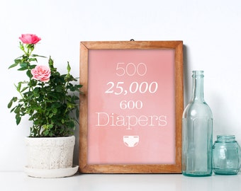 Pink & White Rent Nursery Wall Art - Seasons of Love Remix - Five hundred twenty-five thousand Six hundred Diapers