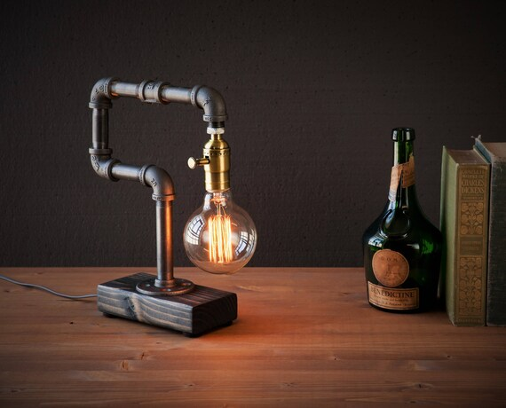 Edison lamp rustic decor unique table lamp industrial like this item aloadofball Choice Image