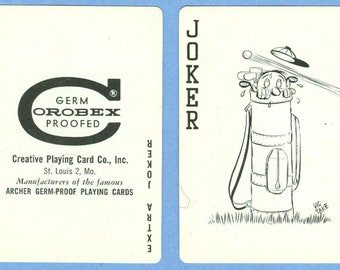 1960s Creative Playing Card Co Tee-Up Cards - Creative Playing Card Company, Inc. Poker Playing Cards