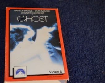 GHOST / Video 8/ Paramount / 8 mm / Staring Patrick Swayze, Demi Moore and Whoopi Goldberg