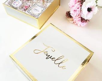 Coffret cadeau de cadeau personnalisé boîte - cadeau de fête mariage - mariage-