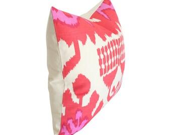 Kazak Orange & Pink Quadrille Designer Pillow Cover- Custom Made-to-Order