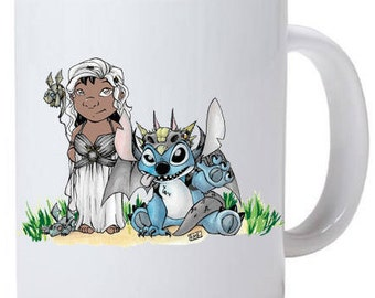 Lilo and Stitch Cosplay Game of Thrones Mug