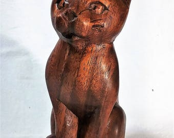 cat wood carving (#ctvlkF6)