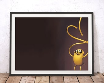 Adventure Time's Jake the Dog - Minimalist Art Print Poster - (Available In Many Sizes)