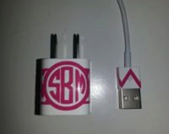 Iphone or IPAD or Ipod Charger monogram