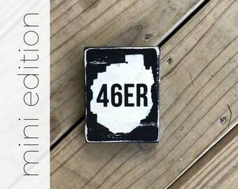 MINI 46ER sign - Adirondacks - ADK 46er - Adks - Hike - Hiking - Mountains - Adirondack Park - Finisher