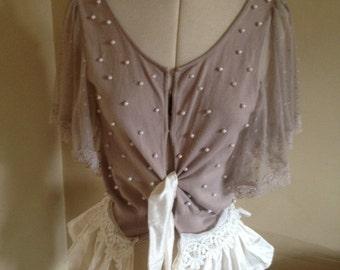 Bridal Wear, Country Wedding, Silk and Lace Cardigan