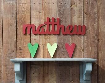 Matthew - Custom Wooden Name Sign - Nursery - Baby Name - Wedding - Shower Gift - Baby Name Sign, Kid's room decor, Nursery Nesting