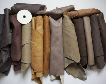 1kg Beautiful Large +++ scraps/ Off cuts Leather Italian