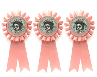 Special Birthday Rosette pin - Limited Edition special girl pin by Mab Graves