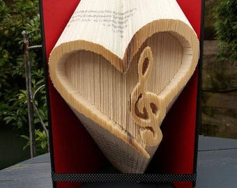 Heart Music Combi Book Folding Pattern, 225f plus tutorial