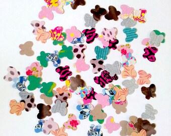 Set of 100 confetti butterflies - fancy paper - A - T8