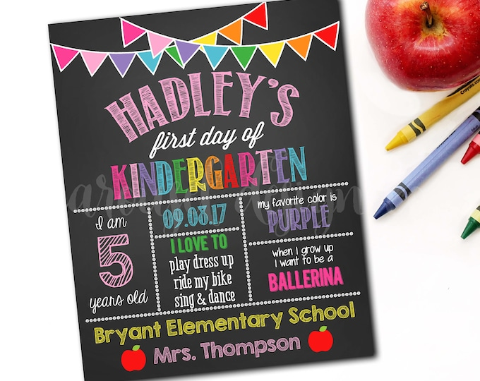 First Day Of School Sign, Back To School Sign, First Day Of School Chalkboard, 1st Day Of School Sign, Photo Prop, DIY Printable