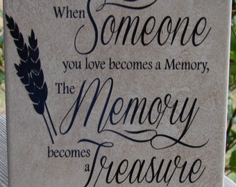 Someone you love becomes a memory tile