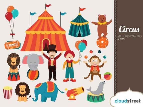 buy 2 get 1 free circus clipart circus clip art clown clipart rh etsystudio com free clipart circus train free clipart circus theme