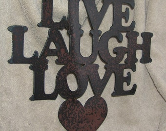Live Laugh Love-Metal Art-AntiRecession Art