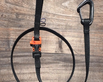Carabiner Dog Leash with whistle for safety and obedience. Made in Colorado.
