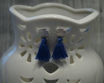 Bird earrings with tassel