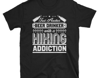 Beer and Hiking -  funny adventure tee - cool hiking tee - hiking apparel - funny hiking tee - funny mountains tee - exploration shirt