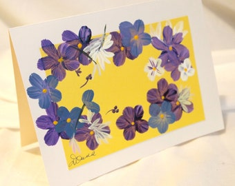 Hand Painted Greeting Card