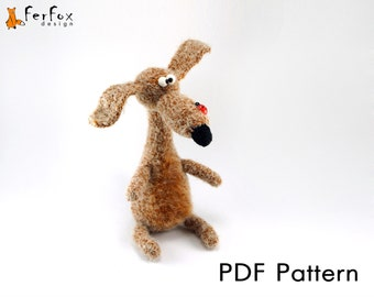 Amigurumi pattern, crochet dog pattern, DIY, PDF tutorial, crochet toy pattern