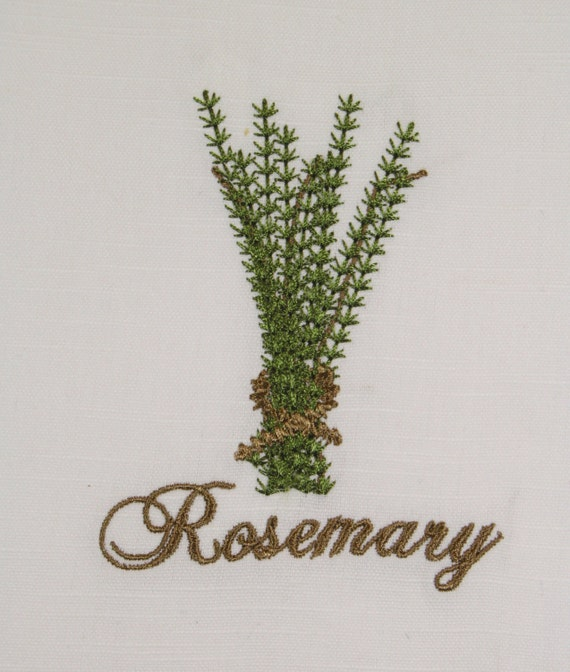 Herb Rosemary Machine Embroidery Design, Herb Embroidery, Rosemary Embroidery  Design, Kitchen Embroidery Design, Kitchen Towel Embroidery