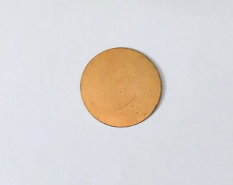 Brass Disc, Brass Blank, Brass Suitable for Enameling, 1.25 Brass Stamping, Painting with Fire, Jewelry Making Components, Brass for enamel