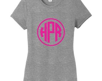 Circle Monogram Women's Fitted T-Shirt