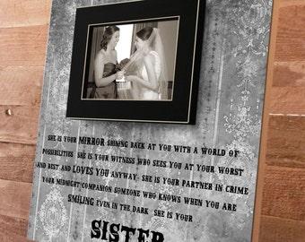Best Friend, Best Friend Gift, Best Friend Picture Frame, Sister, Sister Gift, Bridesmaid Gift, Maid of Honor, Bridesmaid Gift16x16
