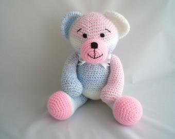 Crochet Teddy Bear / Amigurumi Teddy Bear /  Giant sized Teddy Bear / Crochet Plush Teddy Bear / Hand Made, ultra soft Teddy Bear soft toy.
