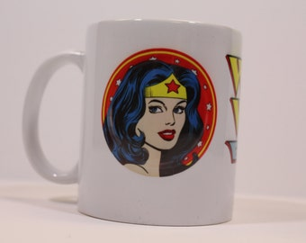 Classic Wonder Woman Ceramic Coffee Mug