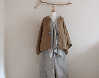 natural ginger sparrow linen outfit three pieces handmade to measure petite to plus size by annyschoo