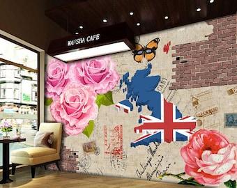 3D Cafe Background 743 View Wallpaper Mural Wall Print Decal Wall Deco Indoor wall Murals Wall Sticker kids Child Wallpaper