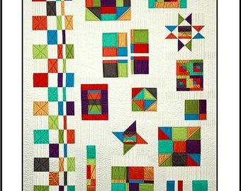 Calico Carriage Quilt Designs Gypsy Sampler by Debby Maddy Fat Quarter Precut Friendly Quilt Pattern