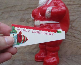 Vintage Christmas Tags Red Mitten Gift Tag