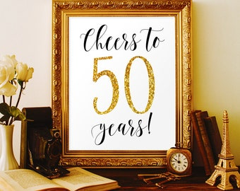 Cheers to 50 years 50th birthday party decorations for men 50th birthday for women 50th anniversary ideas 50 birthday banner 50 anniversary