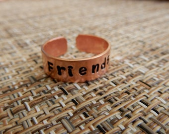 Friends Copper Ring