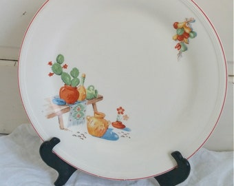 Vintage Mexican Plate   Decorate Plate