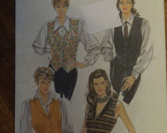 New Look 6113, sizes 6-16, misses, womens, lined vest, UNCUT sewing pattern, craft supplies