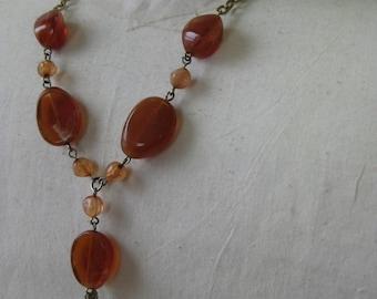 Orange Dangle - necklace
