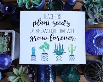 Teachers Plant a Seed