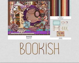 Bookish - Literature, Books, Reading [Digital Scrap Bundle]
