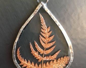 Pressed Fern Necklace