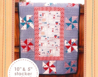 Pattern ''Liberty Quilt'' Easy Nap/ Crib  or Picnic Quilt Paper Pattern by Deena Rutter Sewing Patterns