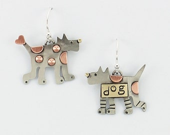 Dog Earrings, Dog Jewelry, Doggy Earrings, Dog Lovers Jewelry, Comical Dogs, Funny Dog Lovers Gifts, RP0658ER