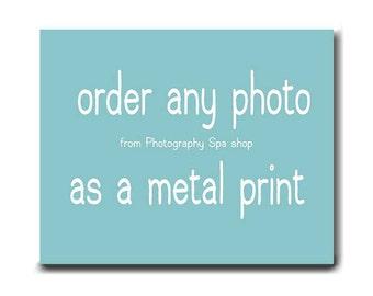 Metal print aluminum art, nature, floral, flower, beach, ocean, nautical, tree branch metal artwork, metal photography wall art, metal decor